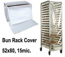 "50 Plastic Bun Rack Cover 52x80"" 15mic. Bread Bakery ++"