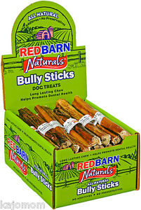 35 count RedBarn 7 Inch Beef Bully STICKS Dog Treat Chew LOW ODOR Natural 1 Case