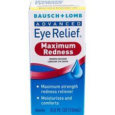 New Bausch & Lomb Advanced Eye Relief Maximum Relief Eye Drops 0.5 Fl. Oz.