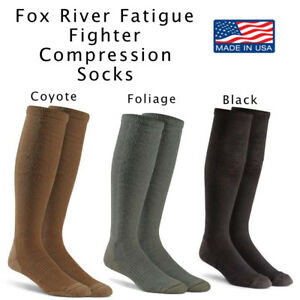 Military Marching Sock FATIGUE FIGHTER Compression Boot Socks FoxSox US MADE NEW