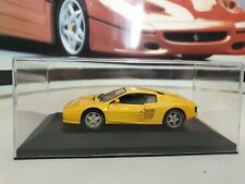 DETAIL CARS /MDM  - FERRARI 512 TR  - YELLOW - 1/43.SCALE MODEL MOUNTED IN CASE
