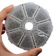 Assortment Eyeglass Sun Glasses Optical Screws Kit Repair Tools Round Box 2 Grid