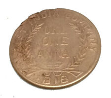 COIN EAST INDIA COMPANY UK ONE ANNA 1818 COPPER MAA KAALI  ANTIQUE OLD COIN