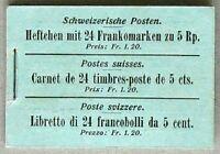 s621) Schweiz Markenheftchen MH 0-5 Tellknabe 1907 sauber ** MNH selten !