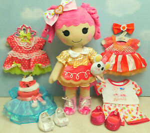 Build a Bear Lalaloopsy Sugar Cookie Doll, Voice, All Dresses, Pet, Bows,Shoes