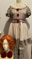 Hot Topic Scary Killer Clown Costume dress Pennywise It Size Large women