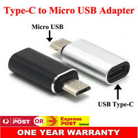 2x USB Type-C USB-C Female to Micro USB Male 5Pin Converter Adapter Connector AU