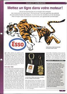 Fiche Huiles Et Carburants & ESSO Mettez un tigre dans votre moteur! & 2 pages