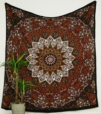 Brown Star Queen Size Ombre Mandala Cotton Indian Tapestry Bohemian Wall Hanging