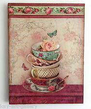 Wall Picture Plaque , Vintage Retro style Handmade / Tea Time 2 / Decoupage