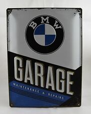 Superb Large Embossed BMW Garage Tin Plate Wall Sign VW 40cm x 30cm NEW
