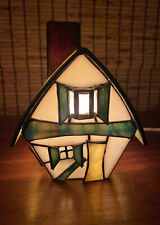 """1993 No. 730  00006000 Lighted """"The Badger House� Bill Job Forma Vitrum Stained Glass"""