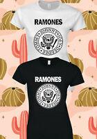 The Ramones American Punk Rock Band WOMEN Ladies T-SHIRT CONCERT TSHIRT 156