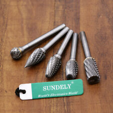 5pcs 12MM Head Tungsten Carbide Rotary Point Burr Die 6mm Shank For Rotary Drill
