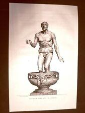 Incisione 1811 Pecheur africain Musée des Antiques Scultura classica Bouillon