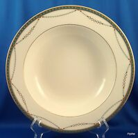 """Mikasa Laurent Rimmed Vegetable Pasta Serving Bowl Ivory Green and Gold 10"""""""