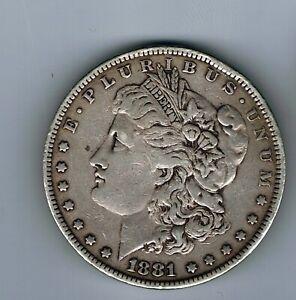 1881 US USA Morgan Dollar silver coin : 26.7g
