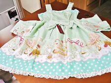 Bodyline Sweet Lolita Apple Green Cherubs & Cakes JSK Dress Size 2L NWT