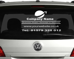 Personalized Car Rear Window sticker Business Advertising With Your Logo Large
