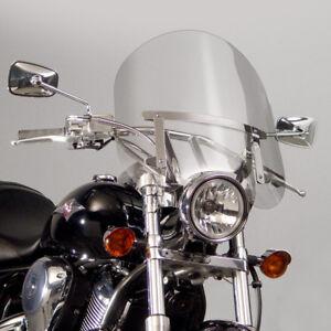 """900 Kawasaki Vulcan CUSTOM VN 900 - Clear 17"""" Windshield w/chrome hardware kit"""