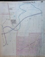 1922 CLEVELAND OHIO OLD BROOKLYN WEST PARK CEMETERY PEARL SCHOOL ATLAS MAP