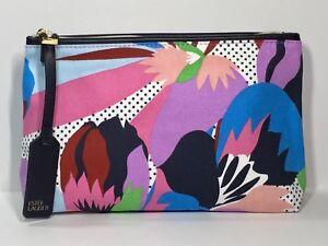 Estée Lauder Cosmetic Makeup Bag Black, blue, purple