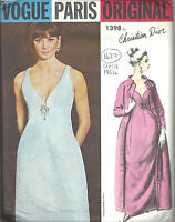 1964 Vintage VOGUE Sewing Pattern B34 COAT EVENING DRESS (1627R) CHRISTIAN DIOR