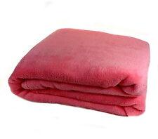 Blush Pink Soft Coral Fleece Blanket Luxury Fleecy Cosy Warm Bed Sofa Throwover