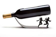 ARTORI Design Wine For Your Life Bottle Holder Rack Stand Black Metal Countertop