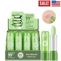 2Pcs Aloe Vera Lipstick Lip Stick Moisturizing Color Changing Long Lasting NEW-