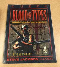 Gurps   Blood Types: Vampires & Vampire Hunters   Steve Jackson Games      1995
