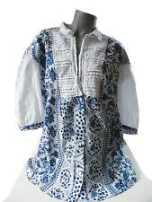 Markenlose Geometrische 3/4 Arme Hüftlang Damenblusen,-Tops & -Shirts