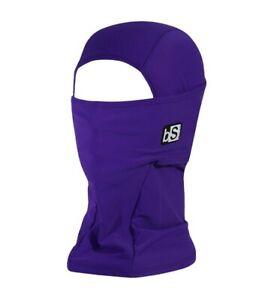 BlackStrap Adult The Hood Dual Layer Balaclava Facemask Solid Deep Purple New