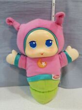 "Vintage Playskool Baby Girl Glow Worm Pink & Green 11.5"" Plush Light Up Kids"