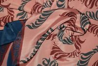 Vintage Zigza Flower Buti Print Saree Crepe Silk Printed Sari Craft 5 Yd Fabric