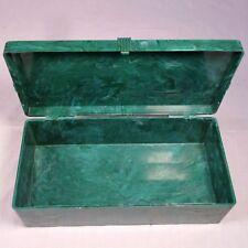 Vtg PM & Co PALL MALL Green Box Cigarette Marbled Plastic Trinket Storage Case
