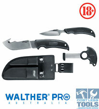 Walther Pro 3 Piece Hunting Knife Set + Carry Case - 50735