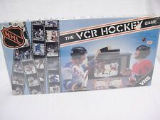VCR Hockey Board Game with Video Action of NHL Teams 1987 Interactive Sealed VHS