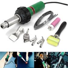 Hot Heat Air Plastic Welding Gun 1500w Welder Pistol + Speed Nozzle + Roller