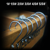 100pcs Offset Circle Hooks High-quality Hi-Carbon Steel Octopus Jig Baitholder