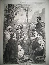 CONTEUR ARABE CARAVANE POUR LA MECQUE CUBA VUE DE LA HAVANE GRAVURES 1862