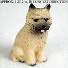 Cairn Terrier Mini Hand Painted Figurine Red