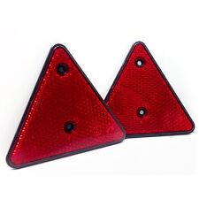 PKW KFZ Anhänger Reflektoren 2x Dreiecksreflektor Dreieck Reflektor Rückstrahler