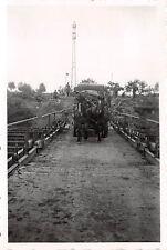 Vormarsch über Schelde Notbrücke Flandern Belgien