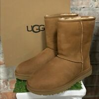 NIB UGG Women's Classic Short II Winter Boots Chestnut Suede Authentic Pick Size