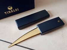 Coupe papier cuir TIBALDI leather cut paper knife stilografica nib plume stylo