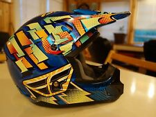 Fly Racing Youth Large Multi-Color Used DIRT BIKE MOTOCROSS MOTORBIKE HELMET