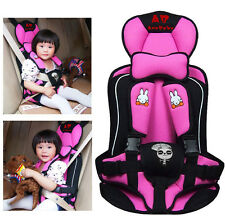 Portable Child Car Safety Seats Five-Pionts Children's Chairs for Car-Pink