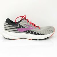 Brooks Womens Launch 6 1202851B027 Grey Black Running Shoes Lace Up Size 8.5 B