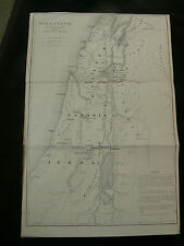 c.1850 Palestine & Jerusalem Pair of Engraved Maps by W. Hughes
